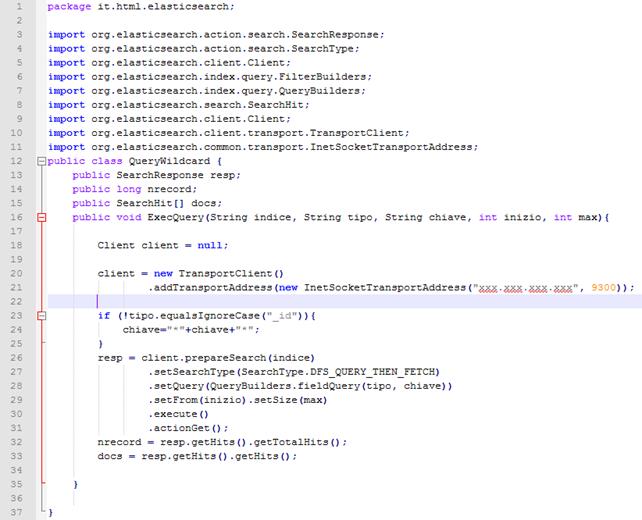 How use ELASTICSEARCH java API